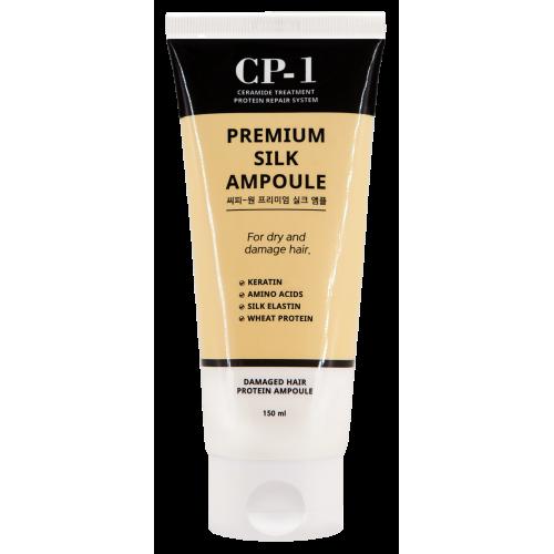 Несмываемая сыворотка для волос с протеинами шёлка Esthetic House CP-1 Premium Silk Ampoule