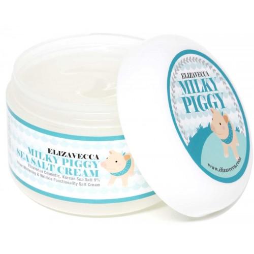 Омолаживающий крем с морской солью ELIZAVECCA Milky Piggy Sea Salt Cream