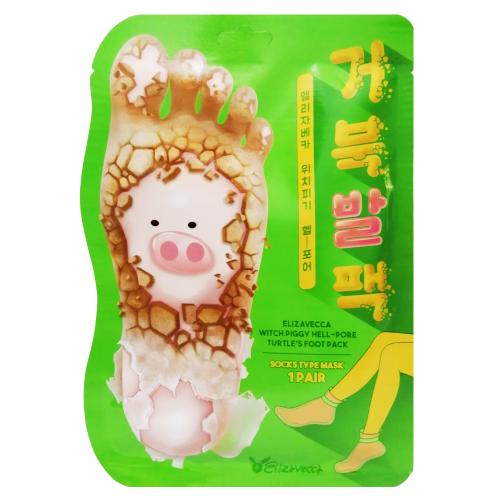 Отшелушивающие пилинг-носочки для очищения и смягчения кожи стоп Elizavecca Witch Piggy Hell Pore Turtle's Foot Pack