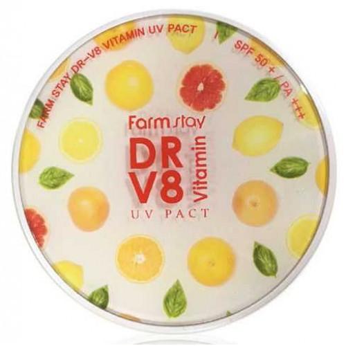 Компактная пудра с витаминами Pack SPF50+ PA+++ FARMSTAY DR-V8 Vitamin UV Pack