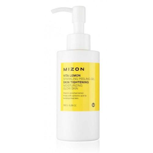 Пилинг-гель для отшелушивания кожи лица с экстрактом лимона Mizon Vita Lemon Sparkling Peeling Gel
