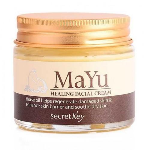 Восстанавливающий дневной крем для лица с лошадиным маслом Secret Key MAYU Healing Facial Cream