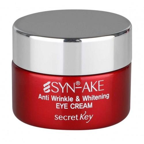 Антивозрастной крем для кожи вокруг глаз с пептидом змеиного яда Secret Key Syn-Ake Anti Wrinkle & Whitening Eye Cream