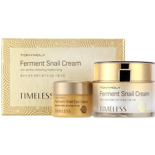 Крем для лица и крем для глаз с улиткой TONY MOLY Timeless Ferment Snail Cream