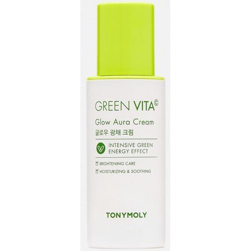 Увлажняющий тонизирующий крем для кожи лица с витамином С Tony Moly Green Vita C Glow Aura Cream