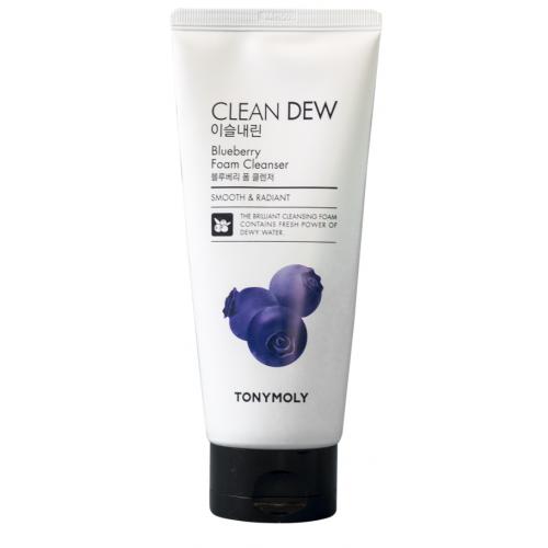 Пенка с экстрактом черники для очищения кожи лица TONY MOLY Clean Dew Blueberry Foam Cleanser