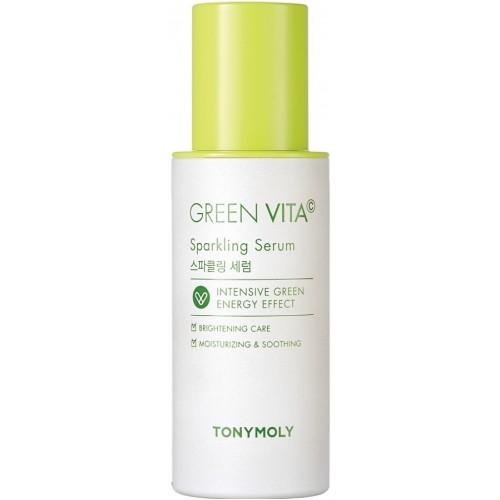 Увлажняющая тонизирующая сыворотка для кожи лица с витамином С Tony Moly Green Vita C Sparkling Serum