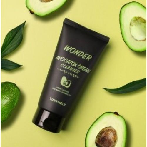 Крем-пенка для умывания с экстрактом авокадо TONY MOLY Wonder Avocatox Cream Cleanser