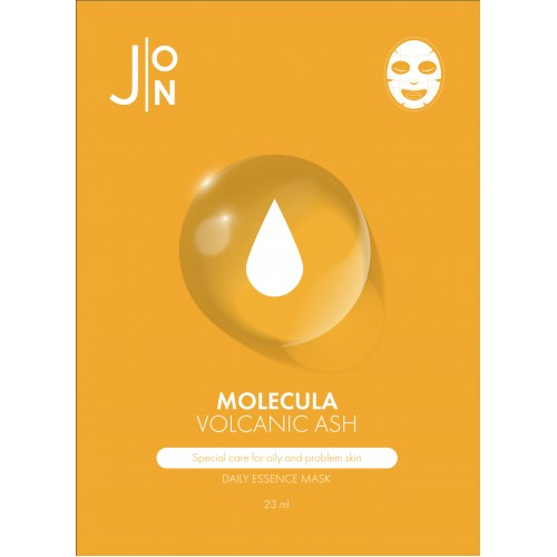НАБОР Тканевая маска для лица ВУЛКАНИЧЕСКИЙ ПЕПЕЛ J:ON Molecula Volcanic Daily Essence Mask