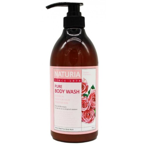 Гель для душа роза и розмарин Naturia Pure Body Wash Rose & Rosemary