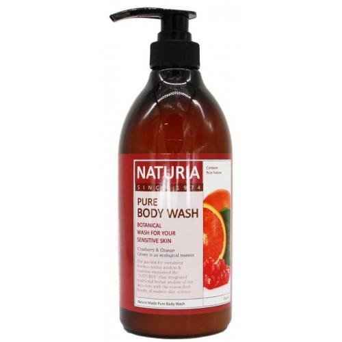 Гель для душа клюква и апельсин Naturia Pure Body Wash Cranberry & Orange