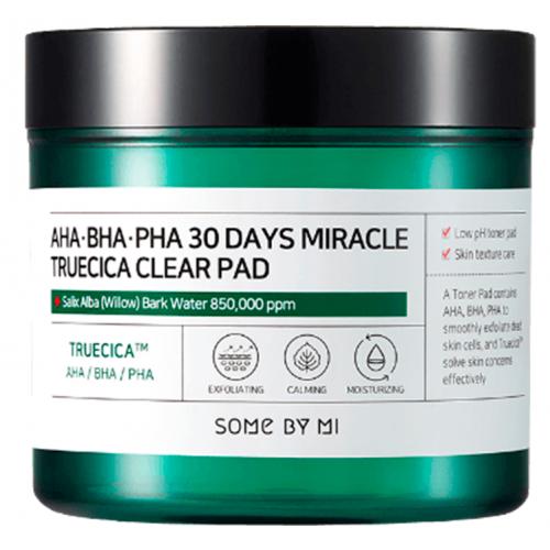 Кислотные пэды для проблемной кожи Some By Mi Aha-Bha-Pha 30 Days Miracle Truecica Clear Pad